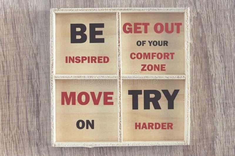Мотивационные цитаты стоковая фотография rf