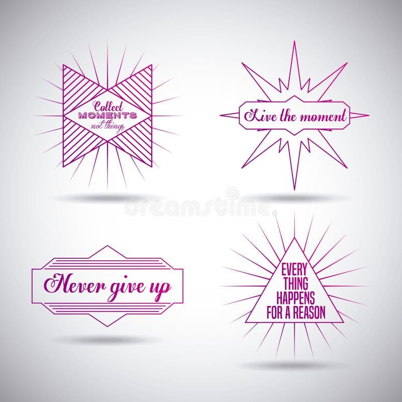 Мотивационный дизайн сообщения иллюстрация вектора