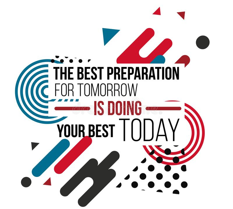 Мотивационный плакат дизайна вектора цитат стоковые фотографии rf