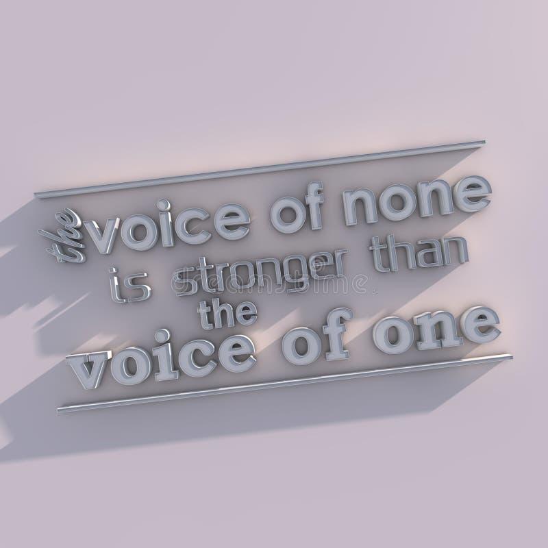 мотивационный плакат 3D иллюстрация штока