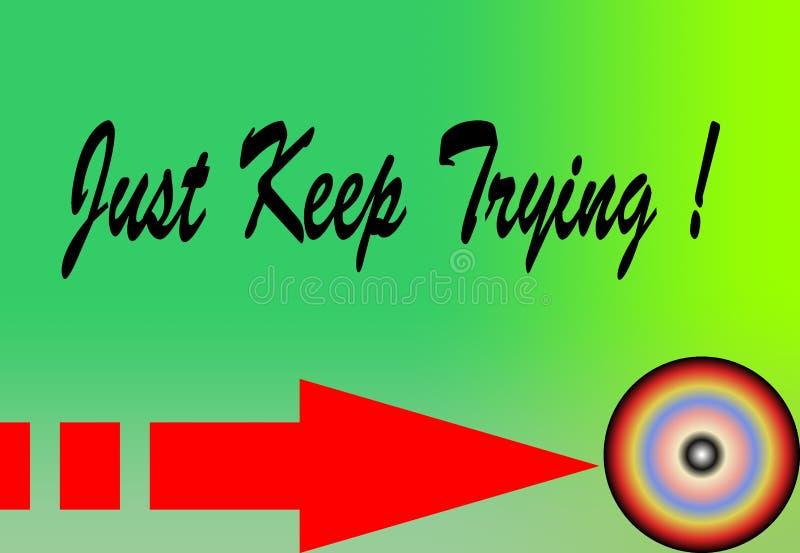 Мотивация и красочная цитата дизайна как раз держат попробовать бесплатная иллюстрация