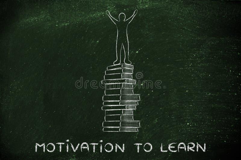 Мотивировка, который нужно выучить, образование и достижения школы стоковое фото rf
