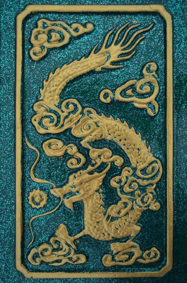 Мотивы дракона, Таиланд стоковые изображения rf