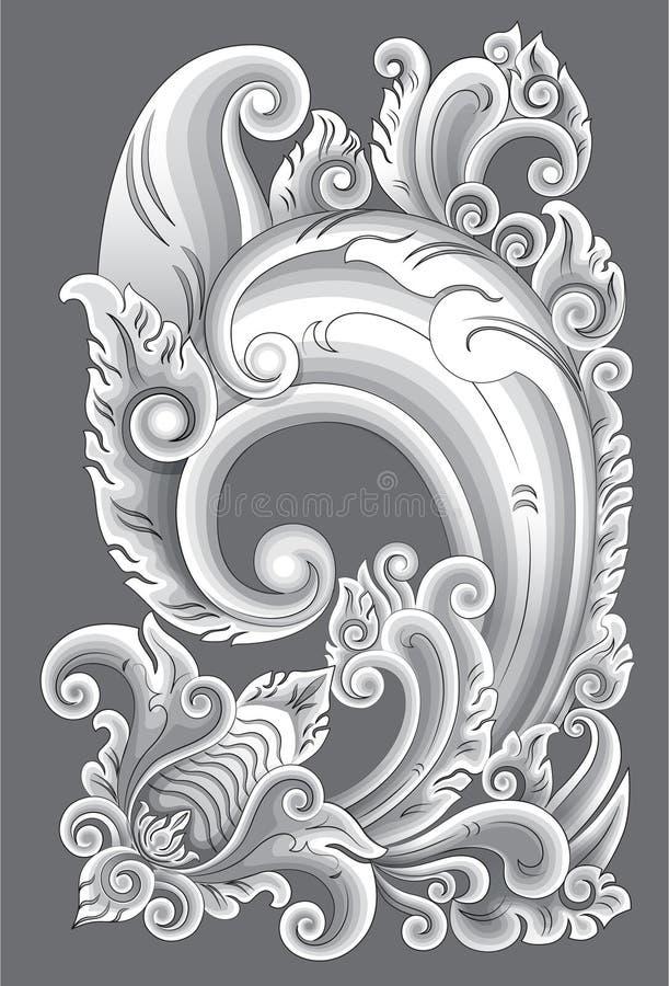 Мотив Бали иллюстрация штока