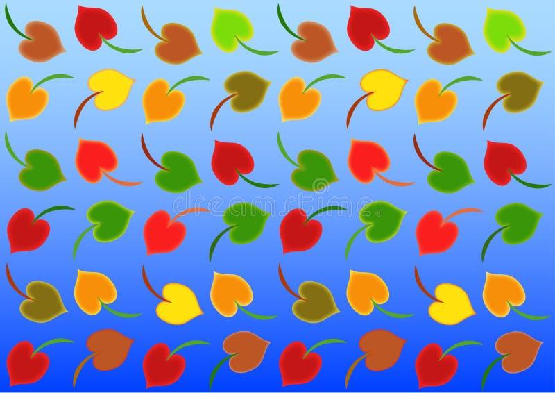 Мотив осени цвета предпосылки иллюстрация вектора