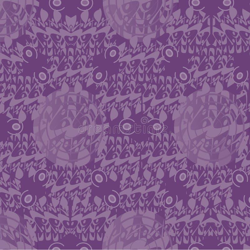 Мотив фиолетовой картины восточный кругов иллюстрация вектора