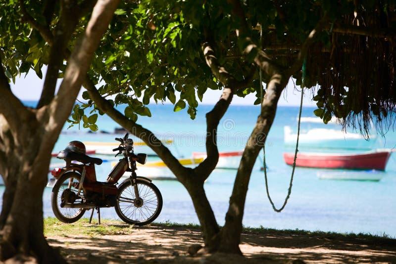 мотовелосипед пляжа стоковые изображения
