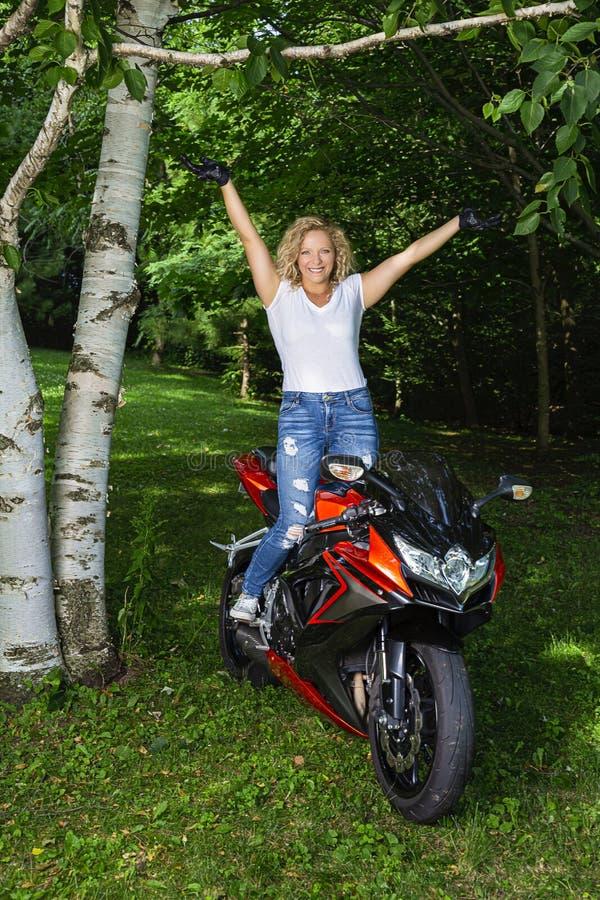 Мотоциклист стоковое изображение rf