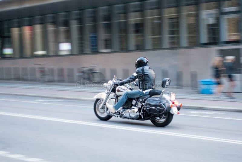 Мотоцикл в городском Гётеборге стоковые изображения rf