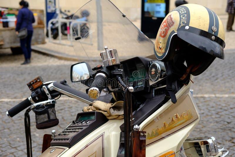 Мотоцикл в Faro, Алгарве стоковое изображение