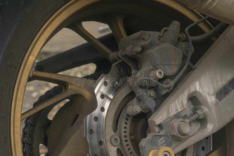 Мотоцикл заднего колеса стоковые изображения rf