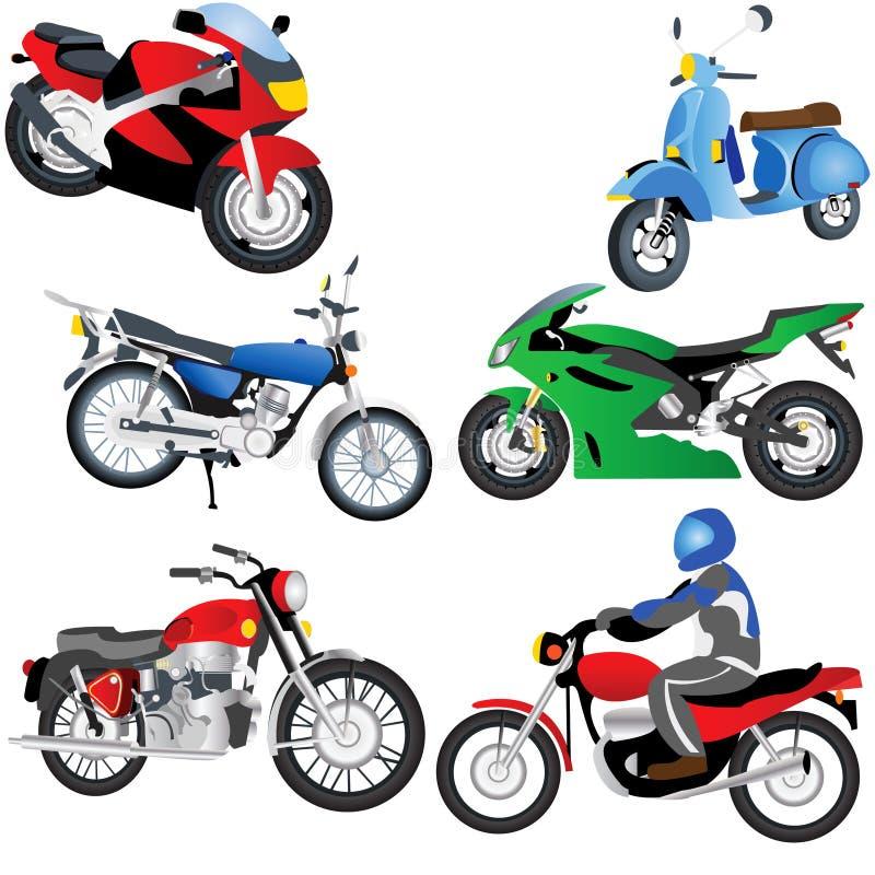мотоцикл икон иллюстрация вектора