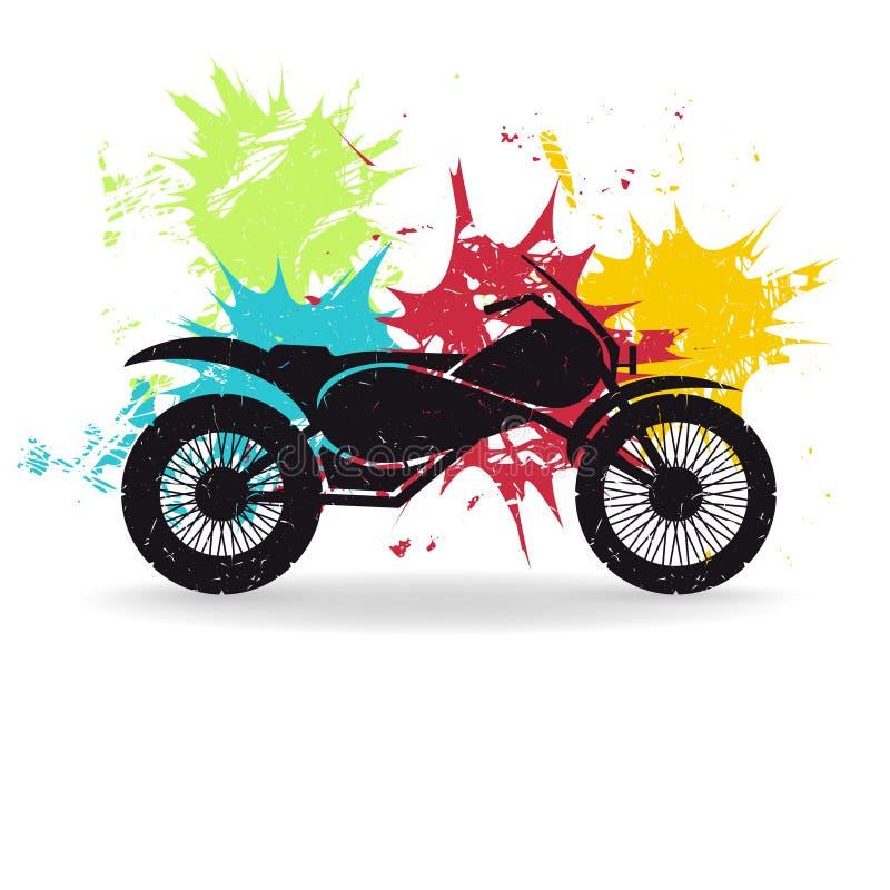 Мотоцикл Иллюстрация вектора Grunge иллюстрация вектора