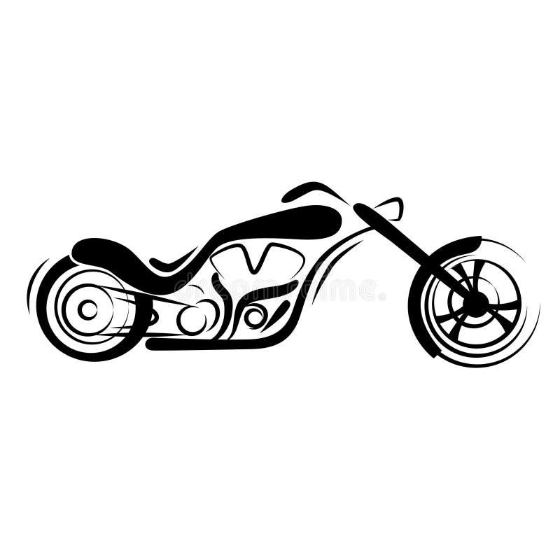 мотоцикл тяпки иллюстрация вектора