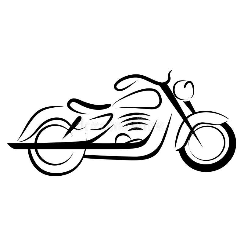 мотоцикл тяпки бесплатная иллюстрация