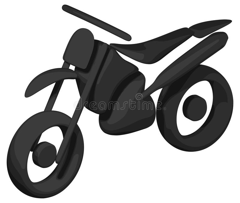 Затеняемый велосипед грязи (- силуэт) иллюстрация вектора