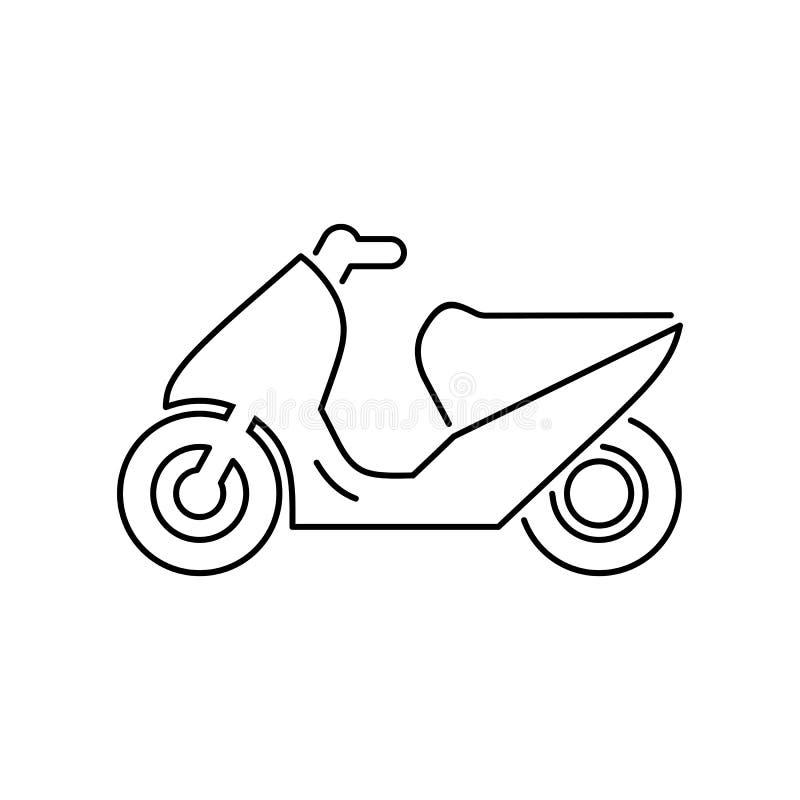Мотоцикл, мотоцилк, illustrat вектора значка самоката простое плоское иллюстрация вектора