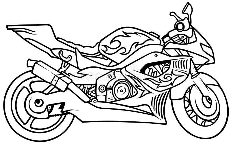 Мотоцикл иллюстрация вектора