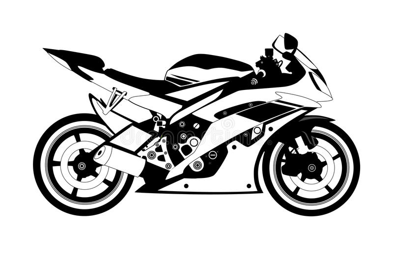 Мотоцикл иллюстрация штока