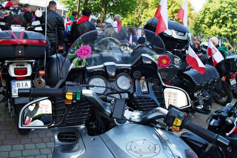 Мотоцилк на 14-ом международном ралли Katyn мотоцикла стоковые изображения rf