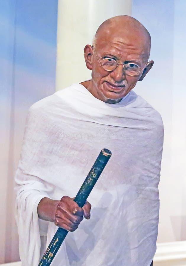 Мохандас Ганди в воске стоковые изображения