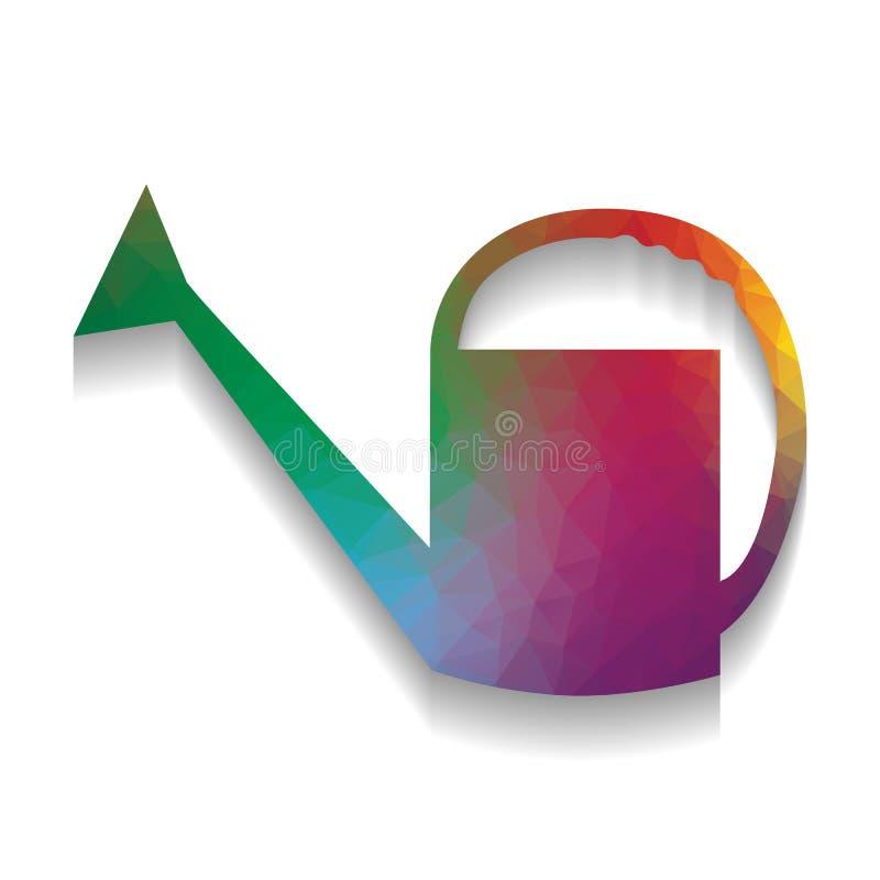 Моча знак вектор Красочный значок с яркой текстурой mosa иллюстрация вектора