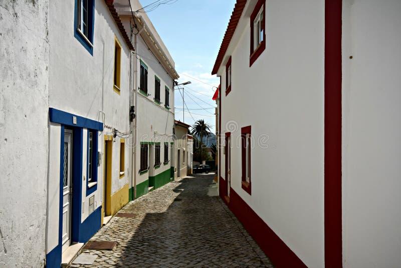 Мощенные булыжником улицы - Португалия стоковые изображения rf