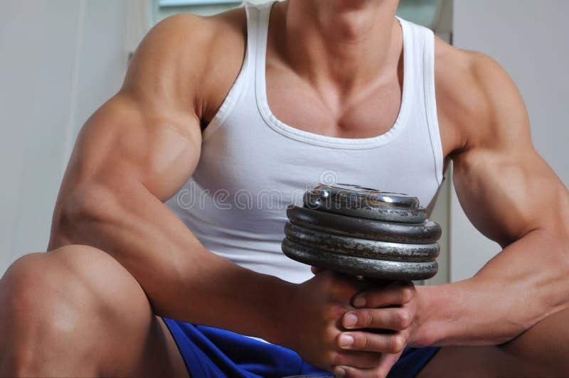 мощное человека мышечное стоковые фотографии rf