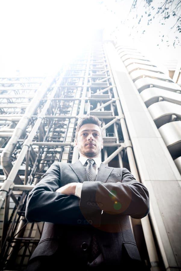 Мощный бизнесмен стоковое изображение rf