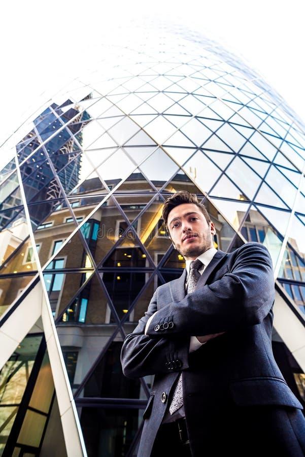 Мощный бизнесмен стоковые фото