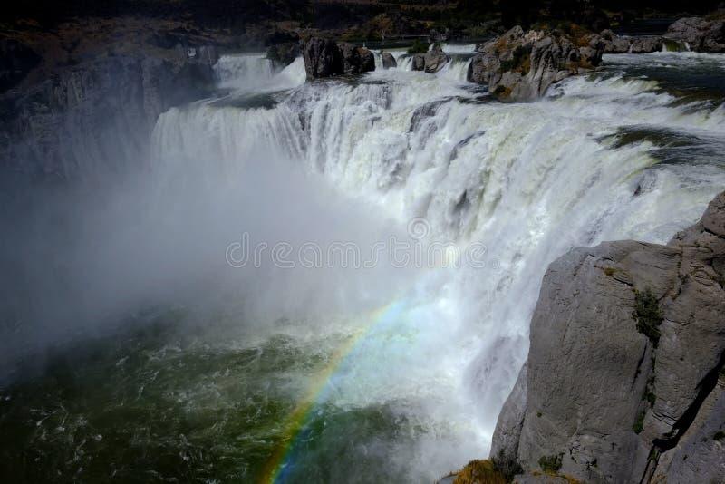 Мощный большой Шошон водопада падает изумительная вода Fal красоты стоковая фотография rf