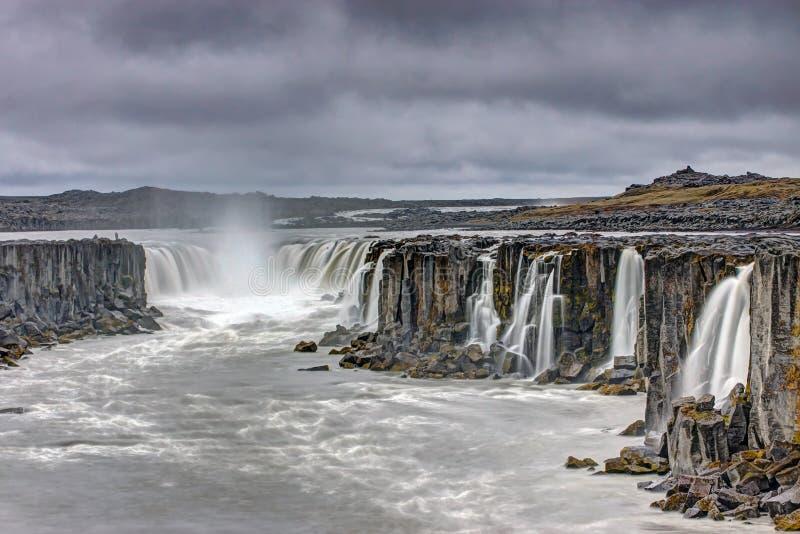 Мощный водопад Selfoss стоковая фотография