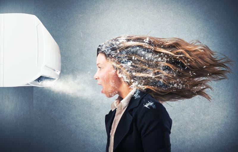 Мощный кондиционер воздуха стоковые фотографии rf