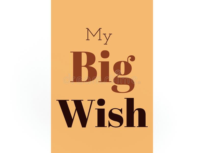 Моя большая обложка книги желания в красивых цветах бесплатная иллюстрация