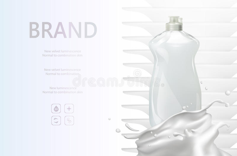 Моя жидкие объявления вектора, мытье бутылки стоковое фото rf