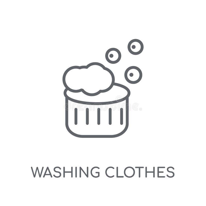 Моя значок одежд линейный Логотип одежд современного плана моя иллюстрация вектора
