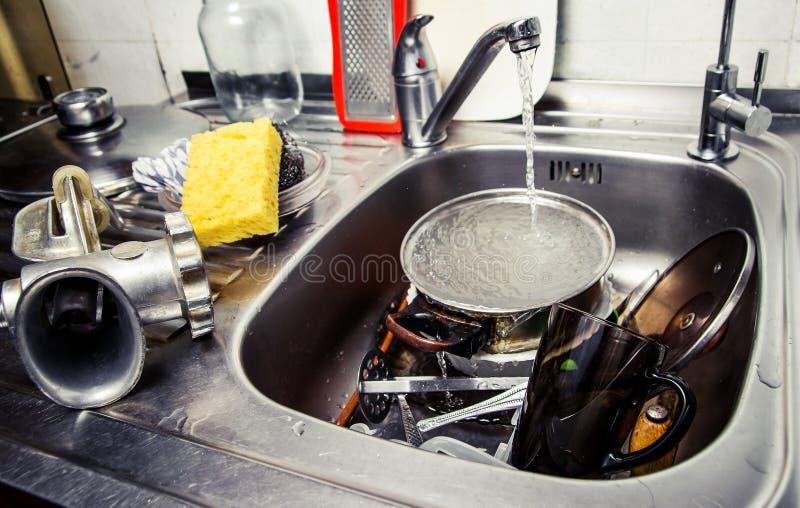 Моя изделия кухни стоковое изображение