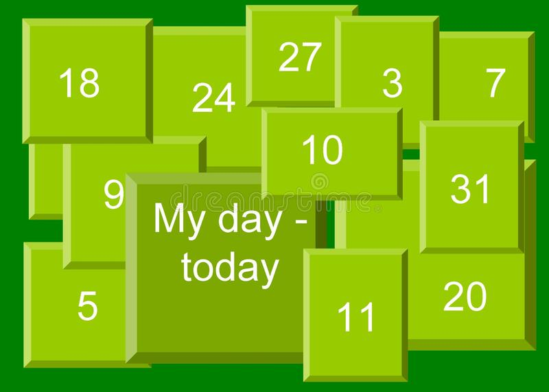 Моя иллюстрация †дня «сегодня, предпосылка бесплатная иллюстрация