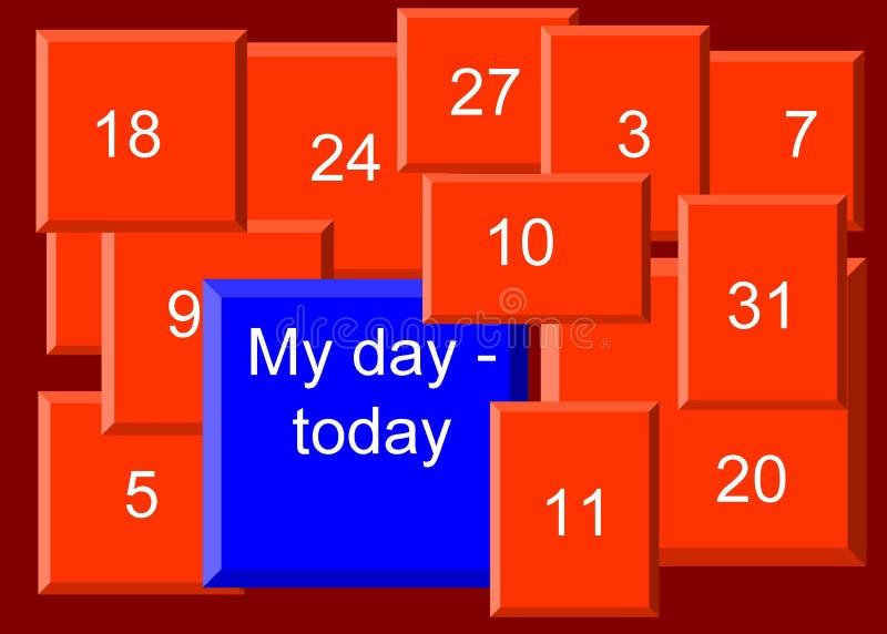 Моя иллюстрация †дня «сегодня, предпосылка иллюстрация вектора