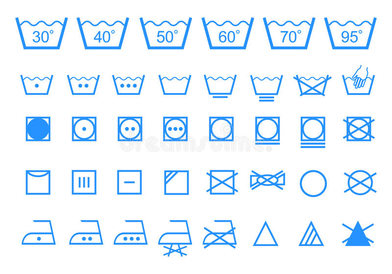 Моя символы заботы, комплект значка вектора бесплатная иллюстрация