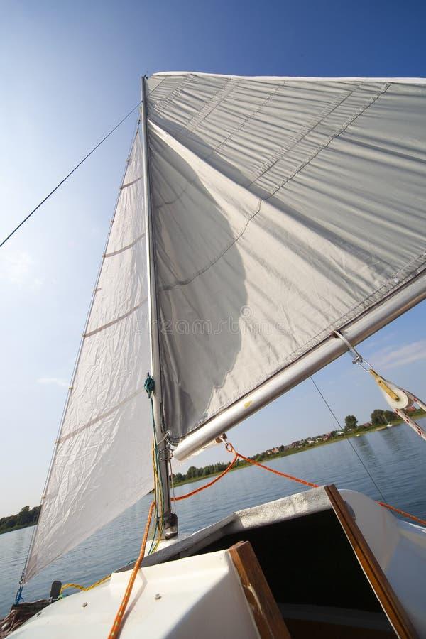 моя яхта ветрила малая стоковое изображение rf