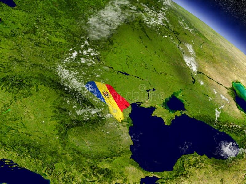 Download Молдавия с врезанным флагом на земле Иллюстрация штока - иллюстрации насчитывающей флаг, климат: 81804119