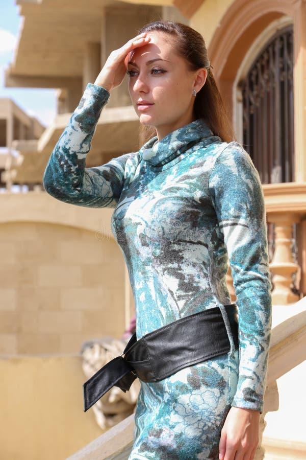 Мода выставки девушки стоковое фото rf
