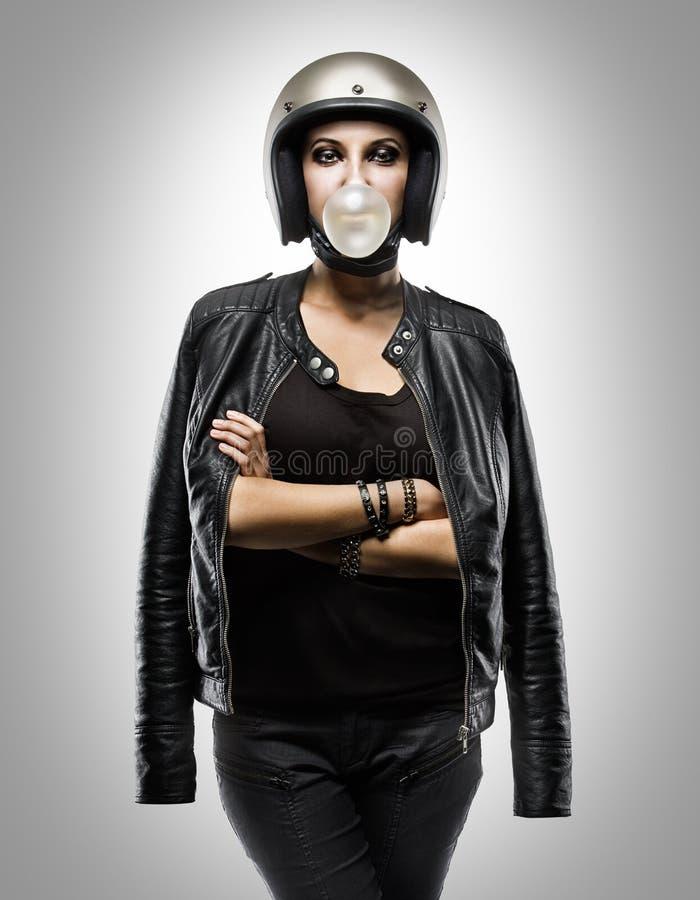 Мода девушки велосипедиста стоковые изображения