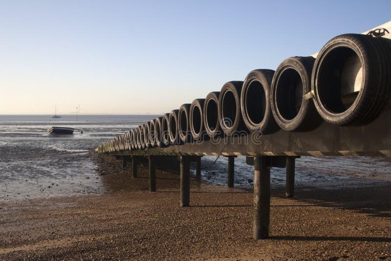 Мола на заливе Thorpe, Essex, Англии стоковая фотография
