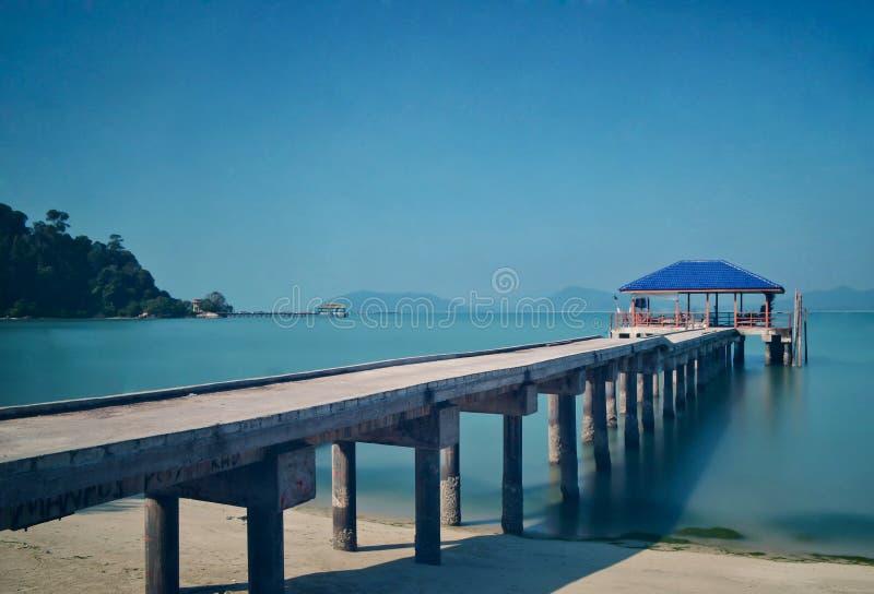 Мола рыболовов острова Pangkor стоковое изображение rf