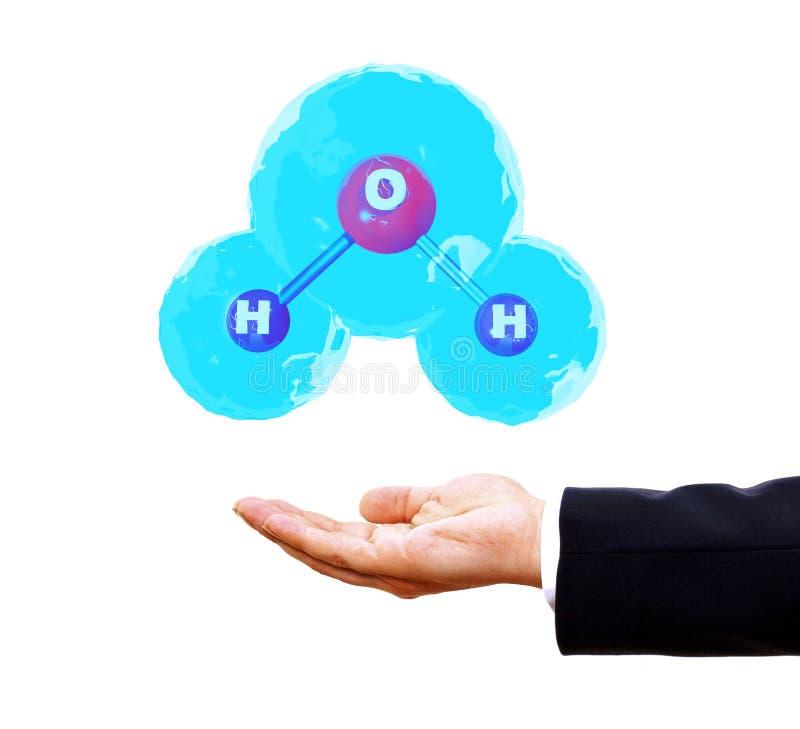 Download молекула воды 3d иллюстрация штока. иллюстрации насчитывающей формула - 33725036