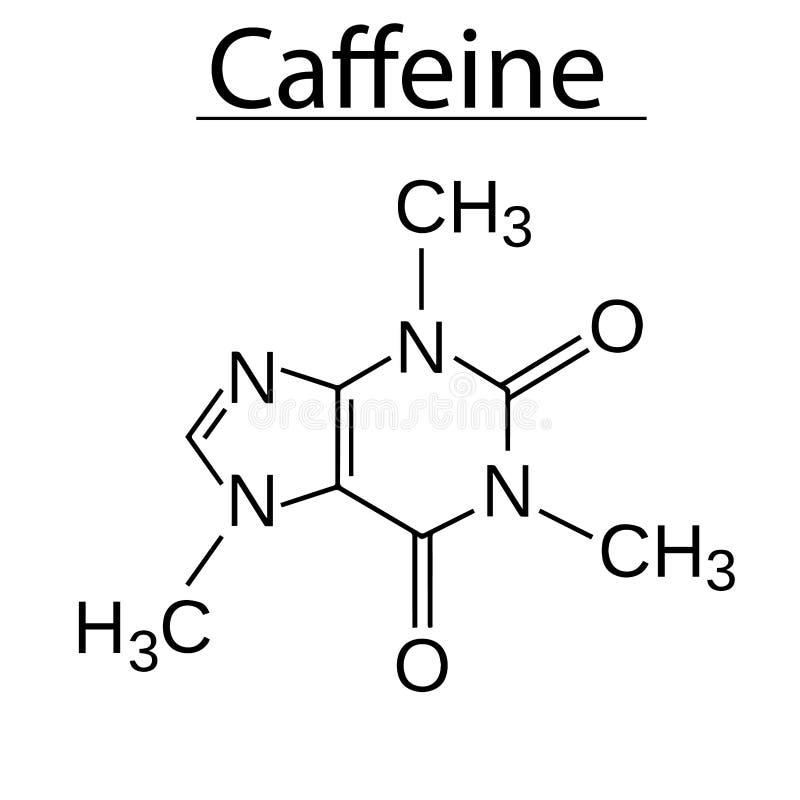 Молекула гваякола Coffe ароматичная вектор иллюстрация штока