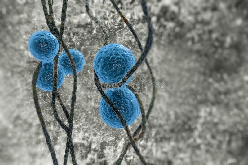 Молекулы и бактерии бесплатная иллюстрация