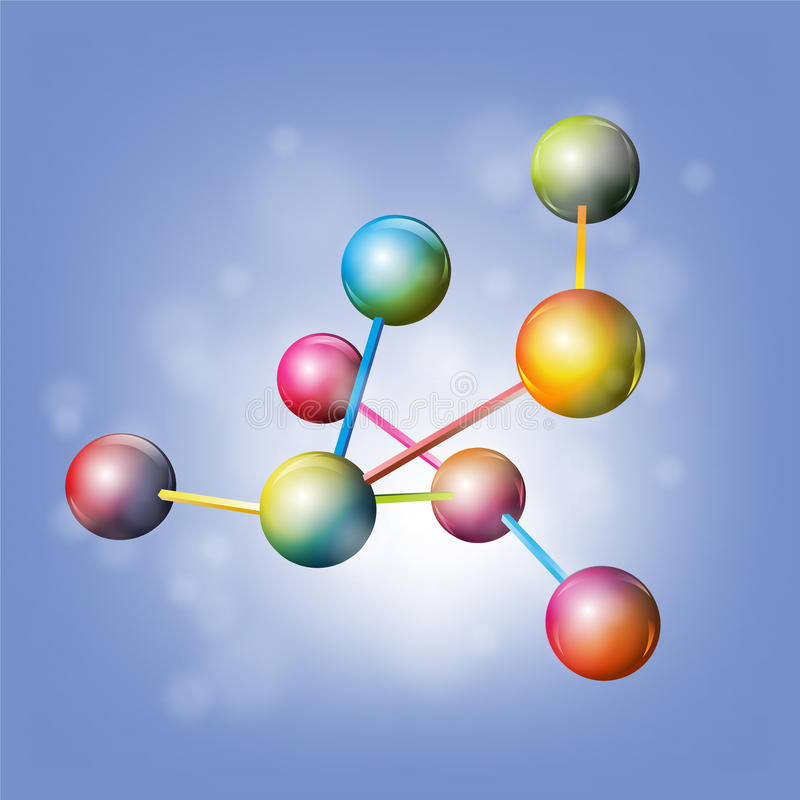 Молекулы иллюстрация штока